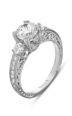 Vanna K Hand Engraved Engagement ring 18RGL00328DCZ product image