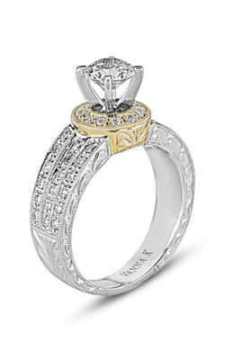 Vanna K Hand Engraved Engagement ring 18RM22624DCZ product image