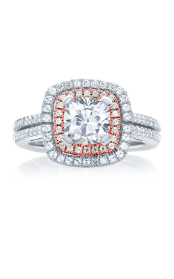 Jaffe Halo Engagement Ring MES635-167 product image
