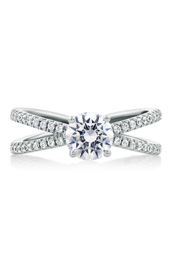 A.Jaffe Fancy Side Stone Engagement Ring ME1751-117 product image