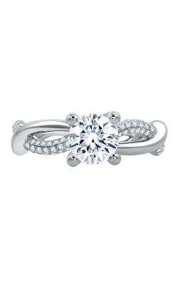 A.Jaffe Fancy Side Stone Engagement Ring ME1761-101 product image