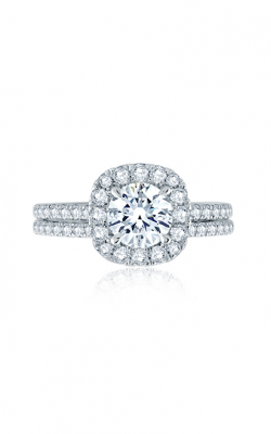 A.Jaffe Round Center With Cushion Halo Engagement Ring With Belted Gallery Detail ME2202Q-157 product image