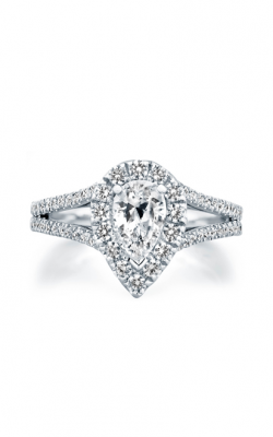 A.Jaffe Pear Shape Split Shank Halo Engagement Ring MES824 product image