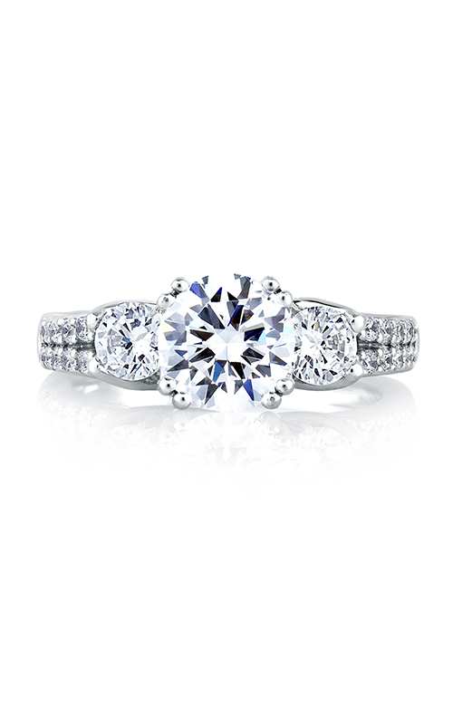 A. Jaffe Classics - 18k white gold 0.85ctw Diamond Engagement Ring, MES278-236 product image