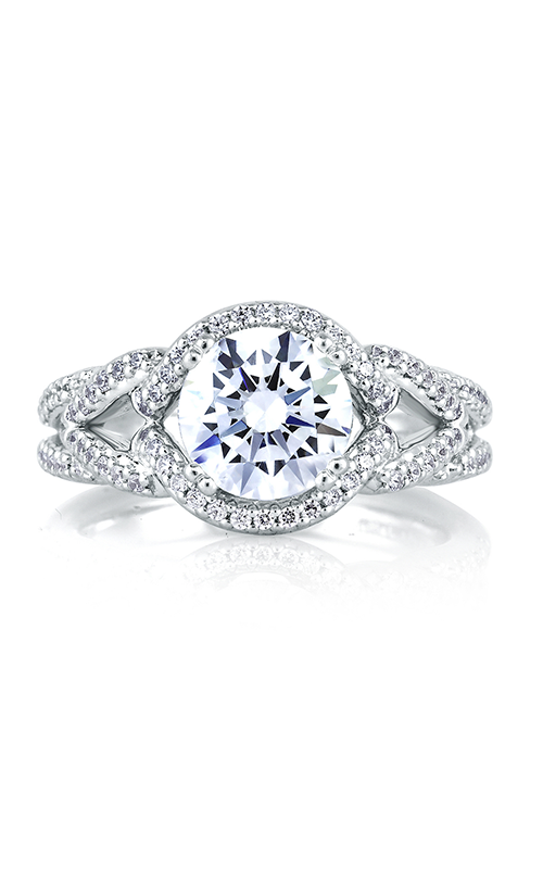 A.Jaffe Halo Engagement Ring MES283-38 product image