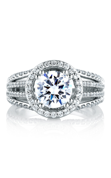A.Jaffe Halo Engagement Ring MES268-289 product image