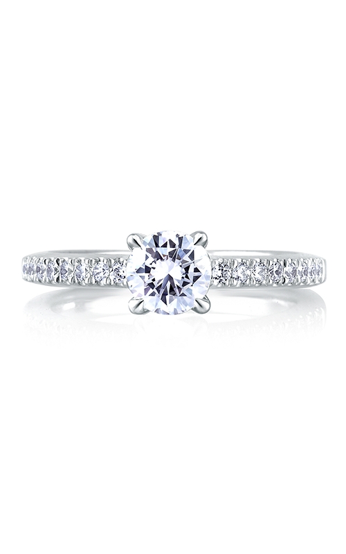 A. Jaffe Classics - 18k white gold 0.27ctw Diamond Engagement Ring, MES309-67 product image