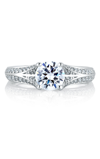 A.Jaffe Shared Prong French Pave Engagement Ring MES302-137 product image