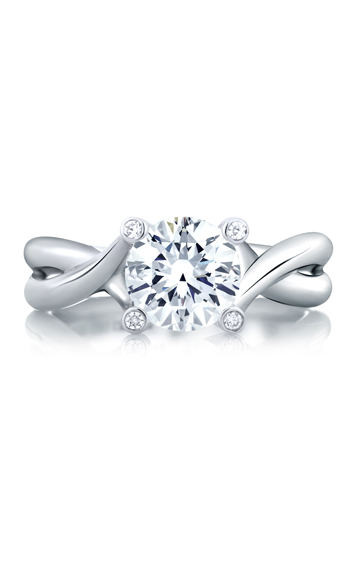 A. Jaffe Metropolitan - 18k white gold 0.03ctw Diamond Engagement Ring, MES463-79 product image