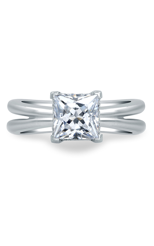 A. Jaffe Seasons of Love - 18k white gold 0.06ctw Diamond Engagement Ring, MES676-81 product image