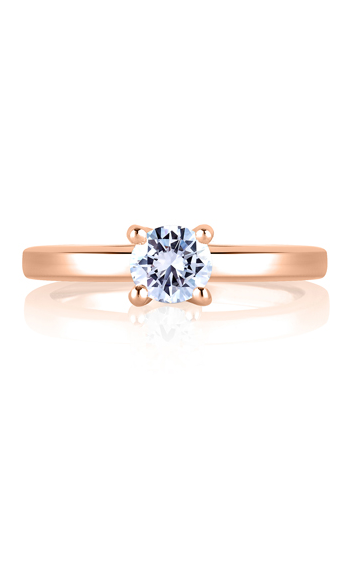 A. Jaffe Classics - 18k rose gold 0.03ctw Diamond Engagement Ring, MES482-43 product image