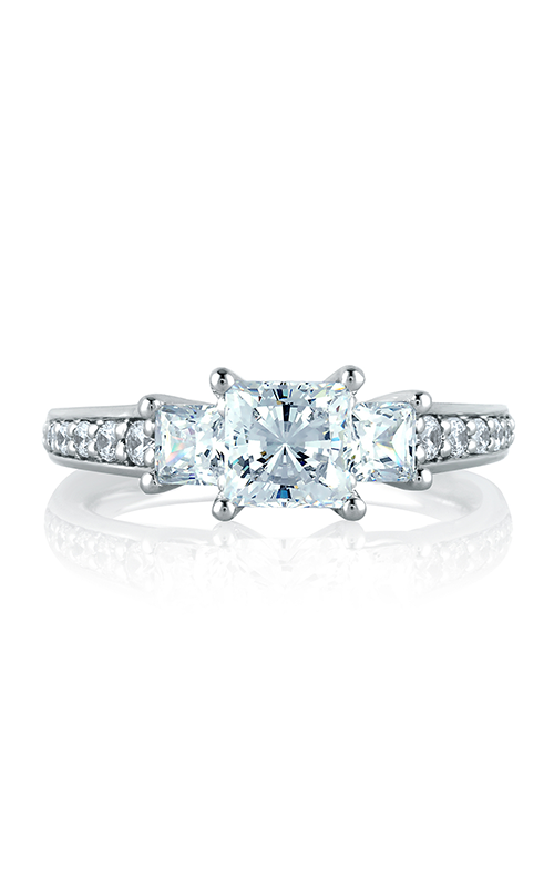 A. Jaffe Classics - 18k white gold 0.73ctw Diamond Engagement Ring, MES591-173 product image