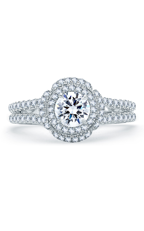 A. Jaffe Quilted Collection - 18k white gold 0.50ctw Diamond Engagement Ring, ME1862Q-100 product image