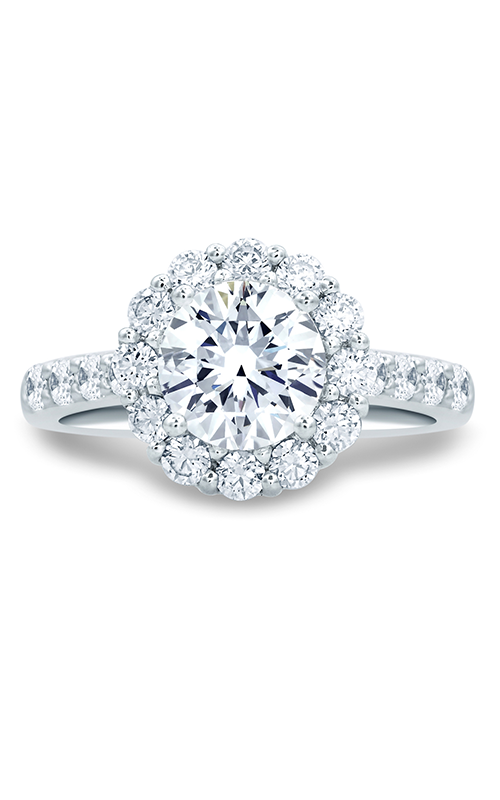 A. Jaffe Classics - 18k white gold 0.96ctw Diamond Engagement Ring, MES691-246 product image