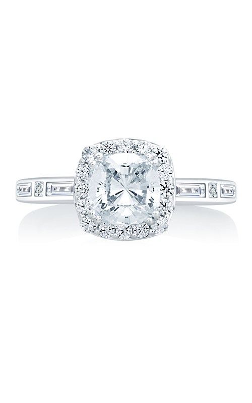 A. Jaffe Art Deco - 18k white gold 0.51ctw Diamond Engagement Ring, MES652-151 product image