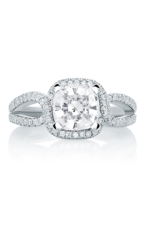 A.Jaffe Halo Engagement Ring MES650-187 product image