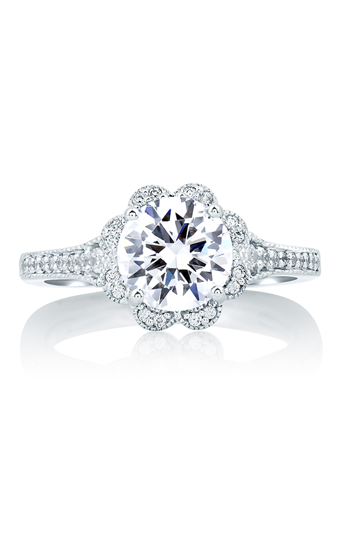 A. Jaffe Art Deco - 18k white gold 0.19ctw Diamond Engagement Ring, MES645-169 product image