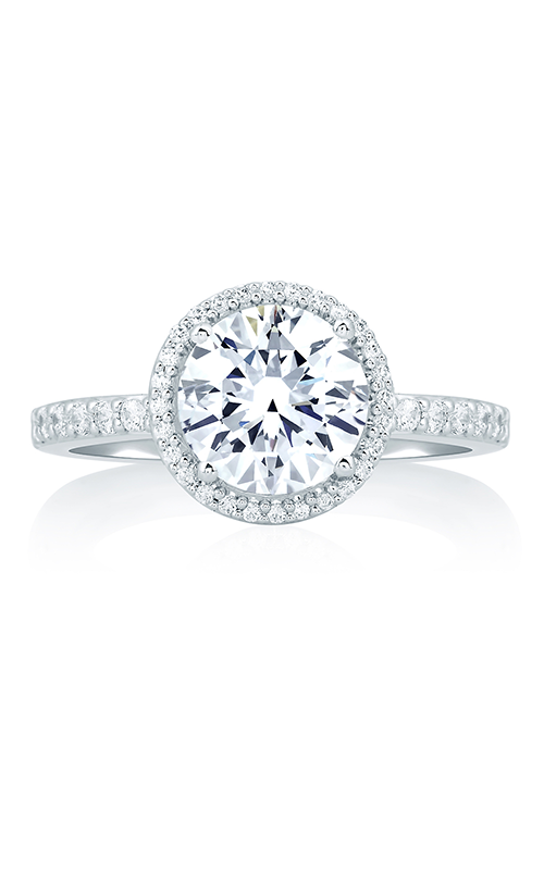 A. Jaffe Art Deco - 18k white gold 0.31ctw Diamond Engagement Ring, MES638-181 product image
