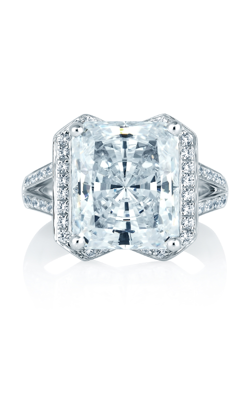A. Jaffe Art Deco - 18k white gold 0.35ctw Diamond Engagement Ring, MES403-135 product image