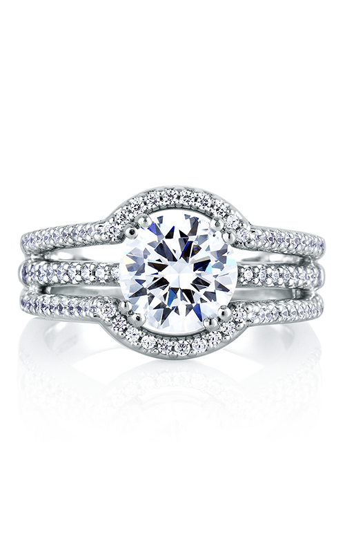 A.Jaffe Halo Engagement Ring MES273-243 product image