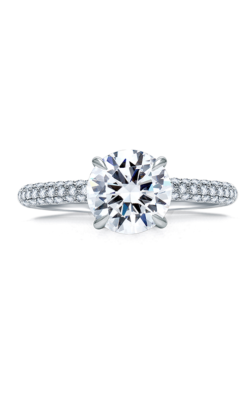 A. Jaffe Quilted Collection - 18k white gold 0.54ctw Diamond Engagement Ring, ME1856Q-154 product image