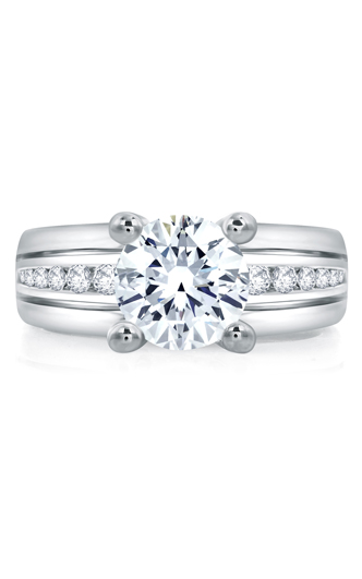 A. Jaffe Classics - 18k white gold 0.30ctw Diamond Engagement Ring, RMS006-130 product image