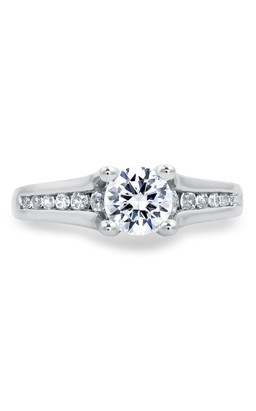 A.Jaffe Fancy Side Stone Engagement Ring MES685-103 product image