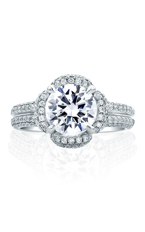 A.Jaffe Fancy Side Stone Engagement Ring MES684-294 product image