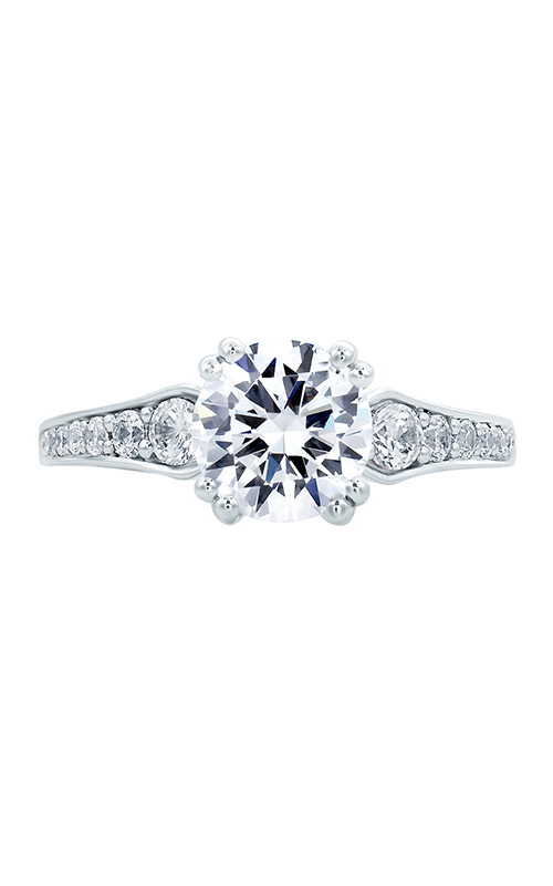 A.Jaffe Fancy Side Stone Engagement Ring MES670-37 product image