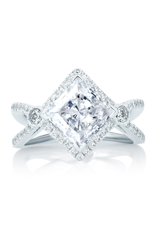 A.Jaffe Fancy Side Stone Engagement Ring MES647-240 product image