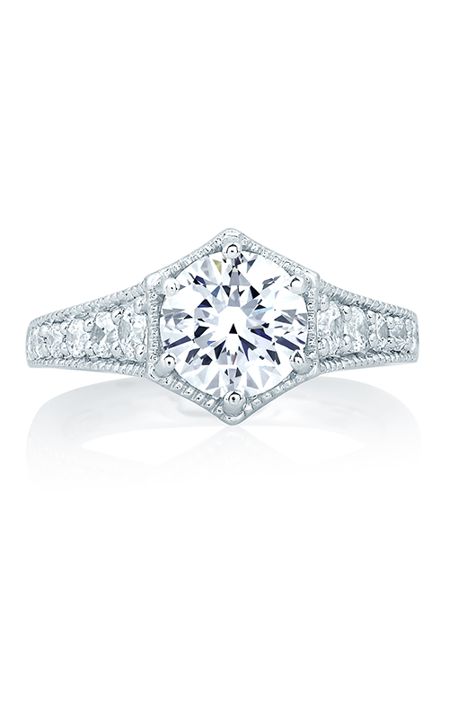 A.Jaffe Fancy Side Stone Engagement Ring MES646-197 product image