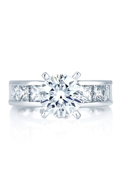 A.Jaffe Fancy Side Stone Engagement Ring MES161-148 product image