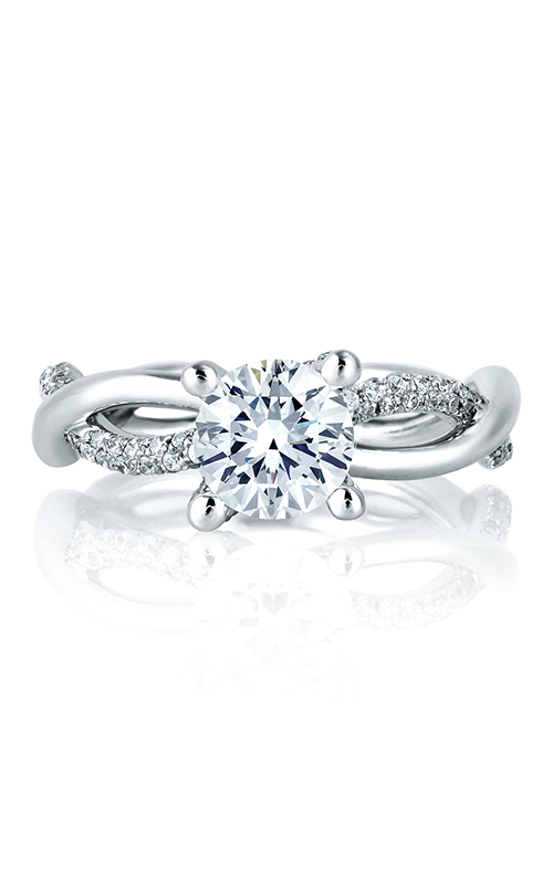 A.Jaffe Fancy Side Stone Engagement Ring ME1647-149 product image