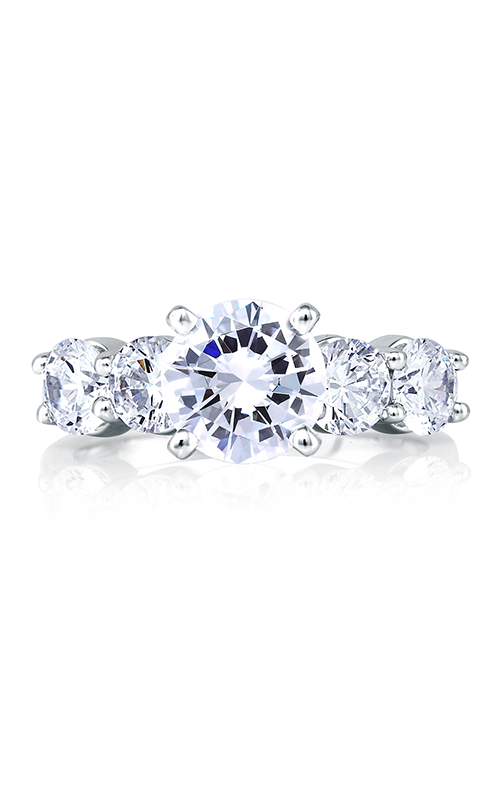 A.Jaffe Fancy Side Stone Engagement Ring ME1083-40 product image