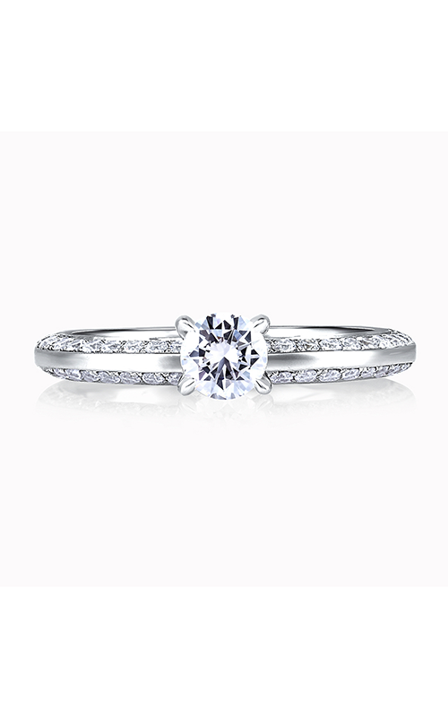A.Jaffe Shared Prong French Pave Engagement Ring ME1543-107 product image