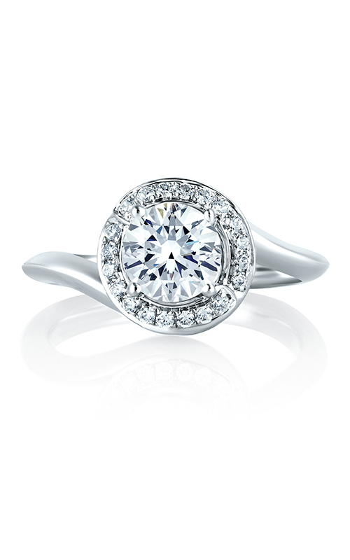 A.Jaffe Halo Engagement Ring MES374-114 product image