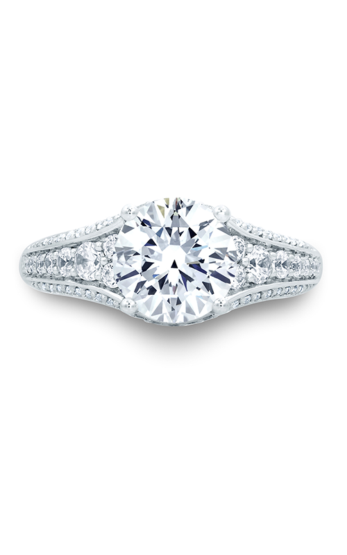 A.Jaffe Fancy Side Stone Engagement Ring MES692-260 product image