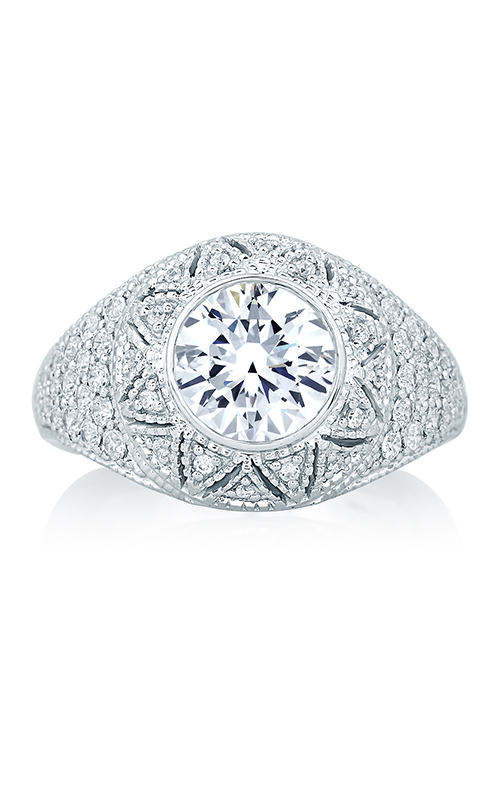 A. Jaffe Art Deco - Platinum 0.54ctw Diamond Engagement Ring, MES653-204 product image