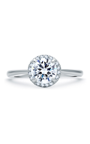 A. Jaffe Quilted Collection - Platinum 0.18ctw Diamond Engagement Ring, ME1843Q-93 product image