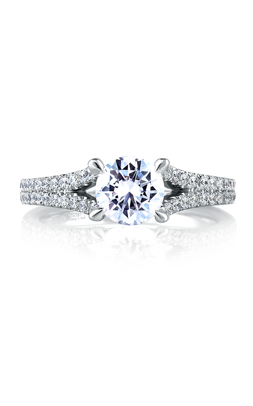A.Jaffe Fancy Side Stone Engagement Ring MES333-110 product image