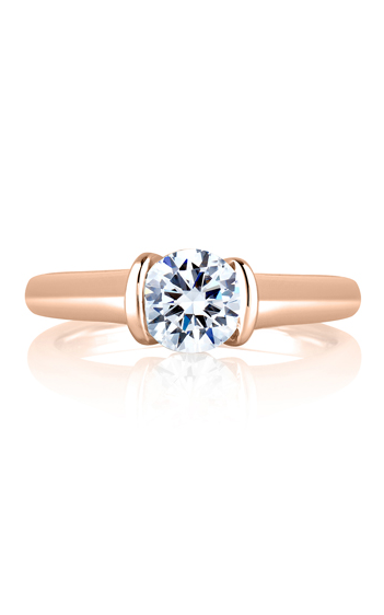 A. Jaffe Classics - 18k rose gold 0.02ctw Diamond Engagement Ring, ME1565-77 product image