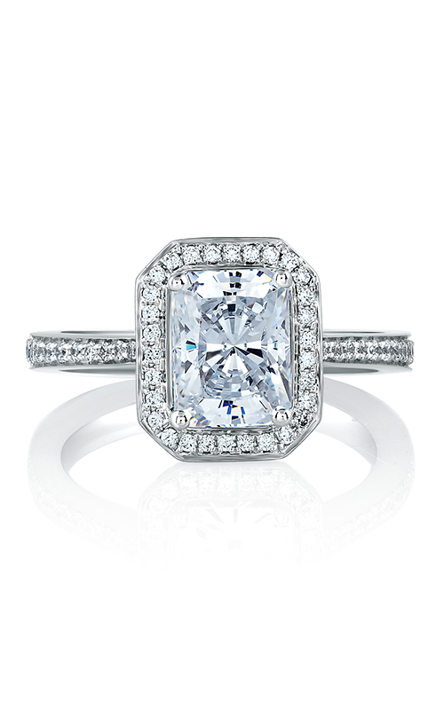 A. Jaffe Metropolitan - 18k white gold, 18k yellow gold 0.37ctw Diamond Engagement Ring, MES597-186 product image
