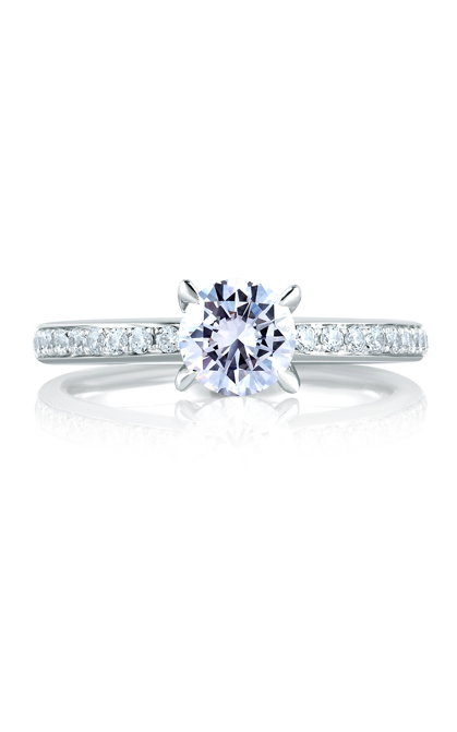 A.Jaffe Shared Prong French Pave Engagement Ring MES327-106 product image