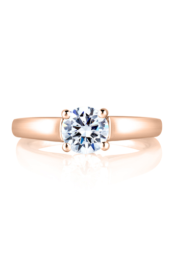A. Jaffe Classics - 18k white gold 0.04ctw Diamond Engagement Ring, MES063-04 product image
