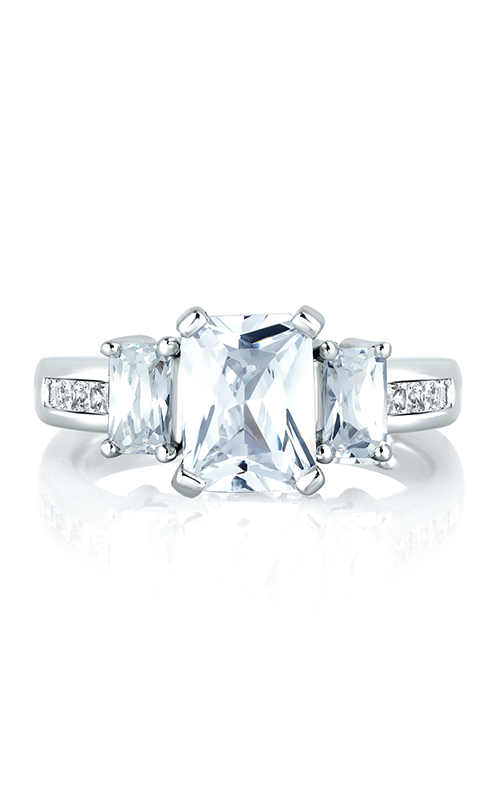 A. Jaffe Classics - Platinum 0.93ctw Diamond Engagement Ring, MES242-90 product image