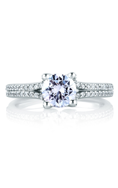 A. Jaffe Classics - Platinum 0.26ctw Diamond Engagement Ring, MES178-76 product image