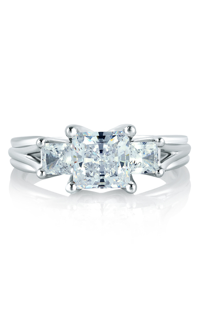 A.Jaffe Three Stone Engagement Ring MES104-280 product image