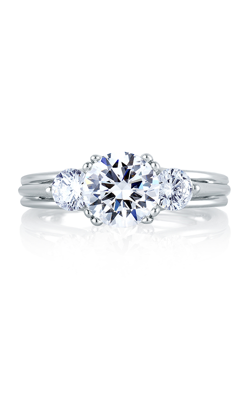 A. Jaffe Classics - Platinum 0.60ctw Diamond Engagement Ring, MES225-135 product image