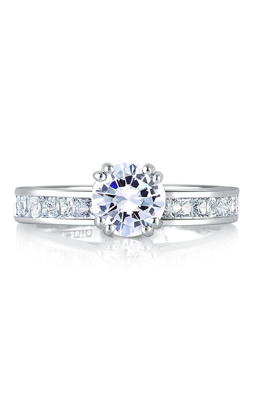 A. Jaffe Classics - Platinum 0.49ctw Diamond Engagement Ring, MES176-49 product image