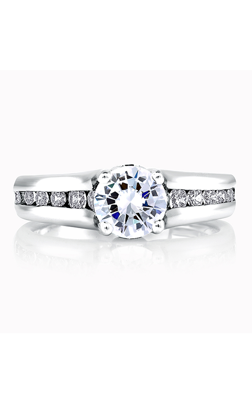 A. Jaffe Classics - Platinum 0.59ctw Diamond Engagement Ring, ME1258-159 product image